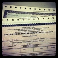 keep your vehicle pink slip in a safe place